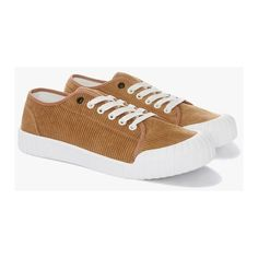 Tan Rhubarb Low Corduroy Sneakers ($68) ❤ liked on Polyvore featuring men's fashion, men's shoes, men's sneakers, mens baseball shoes, men's low top shoes, men's low top sneakers and mens tan shoes
