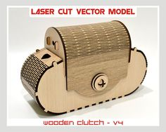 """Thank you for visiting our store. For sale is laser cut vector model. Wooden clutch Digital product includes --- AI, EPS, CDR, SVG, DFX --- files. ---DESIGNS--- Vector pattern have a unique design. ---SET of 1 PATTERNS --- patterns create of plywood - 3,2 mm (1/8"""") Dimension"""