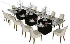 Dining room 12 people 3d (skpSketchUp)