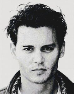 Handmade Johnny Depp PDF Cross-Stitch Pattern $9.99