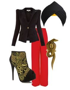 Jafar. One might not look to Jafar as a fashion inspiration, but we would totally wear this outfit in honor of Aladdin's ever doer.