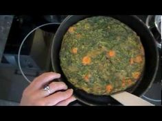 Traditional Tortilla de espinacas. Spanish food recipe: spinach tortilla. EcoDaisy, ,