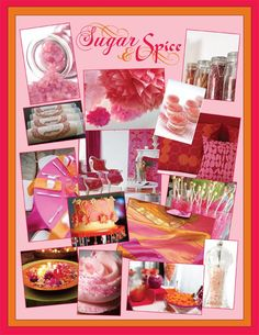 sugar and spice theme--as favors, they suggest chapstick in spicy flavors or vials of colored sugar accompanied by recipes. What about a sugar body scrub?