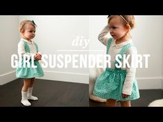 Easiest and cutest little girl skirt you could make! This could be called the scrap skirt too, it uses barely any fabric and it takes maybe 10 minutes to mak...