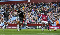 Chelsea youngster Ruben Loftus-Cheek (centre) latched onto a cut back to slot home the opening goal for the visitors Aston Villa, Chelsea Fc Team, Alexandre Pato, Ruben Loftus Cheek, Villa Park, Football, The Visitors, Slot, Centre