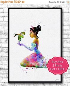 ON SALE 20% OFF Princess Tiana and the Frog 4 by ArtsPrint on Etsy