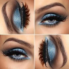 Navy Blue Smokey Eye for Blue Eyes