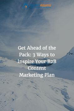 Get Ahead of the Pack: 3 Ways to Inspire Your B2B Content Marketing Plan