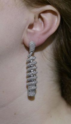 de Grisogono Spiral Diamond Earrings 3
