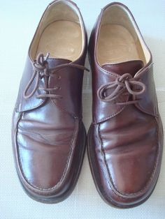 DESIGNER CHURCH'S BROWN LEATHER MOCCASINS UK 7.5 #CHURCHS #Laceup