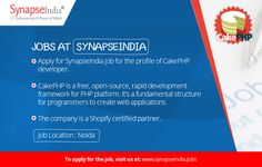 Apply for SynapseIndia job for the profile of CakePHP developer.    SynapseIndia has a great working culture. We recognize employees at work and reward them for their exemplary performance.  Checkout: http://synapseindia-jobs.blogspot.in/2017/04/synapseindia-job-be-part-of-SynapseIndia-team.html
