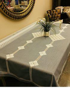 Dantel Tablecloth, Button Crafts, Shabby Vintage, Geek Stuff, Monogram, Sewing, Interior, Handmade, Home Decor