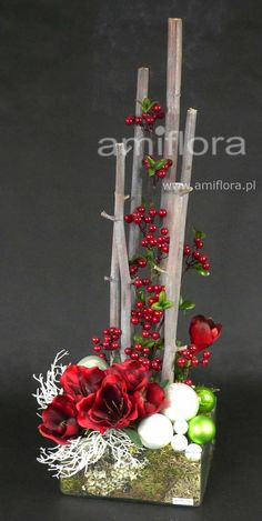 Discover recipes, home ideas, style inspiration and other ideas to try. Christmas Flower Decorations, White Christmas Ornaments, Christmas Flower Arrangements, Modern Flower Arrangements, Christmas Mesh Wreaths, Christmas Swags, Christmas Flowers, Rustic Christmas, Christmas Crafts