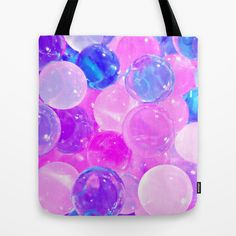 GLISTENING BUBBLY PINK BUBBLES Tote Bag by TheCore