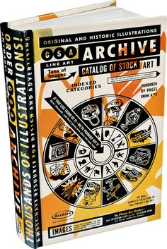 Blast from the Past: The CSA Archive, catalogue of Stock Art. We loved this book in its first release in the mid 90s.