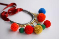 Bobbles necklace Crochet Necklace, Fashion Accessories, Jewelry, Jewlery, Crochet Collar, Jewels, Jewerly, Jewelery, Accessories