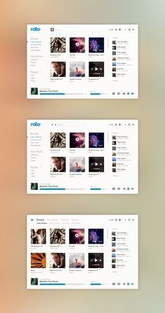 Super clean! And still.. not too flat. Rdio GUI by Phyek