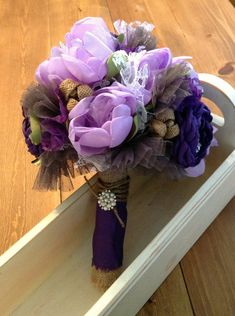 Rustic Glam Bouquet by JensBowdaciousBows on Etsy