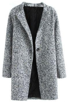 Captivating Heather Grey Coat