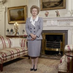 June's other customers included Margaret Thatcher (pictured), Ronnie Barker, Ronnie Corbett and Benny Hill Great Britan, The Iron Lady, Margaret Thatcher, British Prime Ministers, Female Hero, Boris Johnson, Duchess Of Cornwall, Successful Women, Girl Power