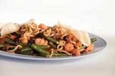 Kijk wat een lekker recept ik heb gevonden op Allerhande! Noodles met garnalen