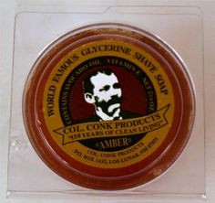 Col. Colonel Conk Products World Famous Glycerine Shave Soap Amber 2 1/4 oz Size