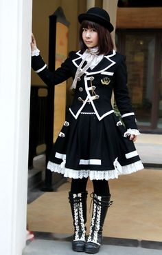 Infanta Edward Boarding School Jacket Skirt Set.