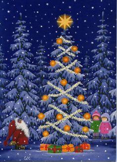 Eva Melhuish, Santa & Children with Christmas Tree