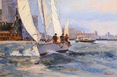 """Saatchi Art Artist Irina Alexandrina; Painting, """"sea#7"""" #art"""