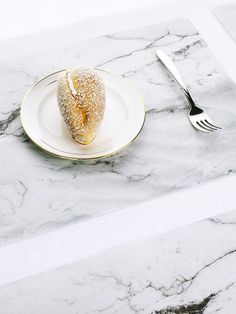 Marble Print Table Mat- 2pcs