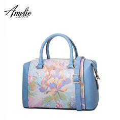 3221f1d73e07 AMELIE GALANTI Casual Leather Tote Bag Handbag for Women Premium Ladies PU  Shoulder Bags Zipper Floral Women Shoulder Bags