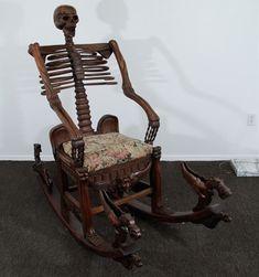 """Memento Mori"" Mid-19th century Skeleton Rocking Chair #victorian #furniture"