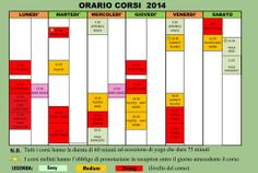 Il nuovo planning FITNESS!