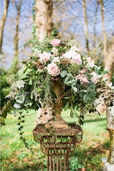pretty, overflowing floral piece
