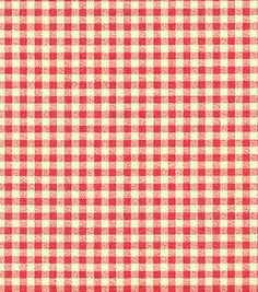 With geranium fabric. Waverly Fabric, Home Decor Fabric, Geraniums, Gingham, Red, Cotton, Ribbons, Fabrics, Wallpapers