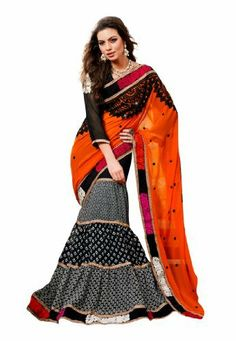 #Indian #Designer #Wear #Orange , #Black & #Off #White #Georgette #Embroidery #Fabdeal, http://www.amazon.co.uk/dp/B00HYV9UTU/ref=cm_sw_r_pi_dp_ueprtb0D82TQV