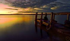 Dock   dusk, sky, shore, lake, dock