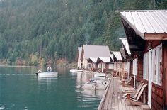 Unforgettable places to sleep in national parks - US & Canada.  The Floating Resort, North Cascades National Park, Washington