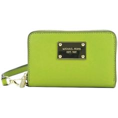 Michael Kors Wallet and Phone Case, Lime