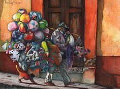 """Saatchi Online Artist daniel levy; Painting, """"Globero"""" #art"""