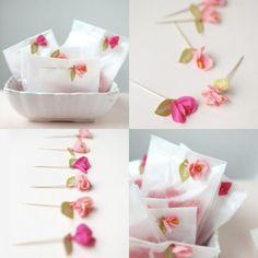 Fleur en papier crepon art origami béauté