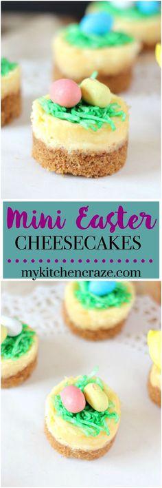 Mini Easter Cheesecake ~ mailto:mykitchencraze@gmail.com