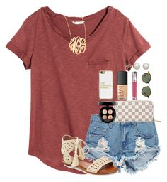 """""""I've been making wayyy too many string friendship bracelets"""" by thefashionbyem ❤ liked on Polyvore featuring H&M, Boohoo, Jennifer Zeuner, Joie, Louis Vuitton, Ray-Ban, MAC Cosmetics, NARS Cosmetics, BaubleBar and Urban Decay"""