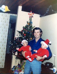 Drew and Jonathan Scott with their father James Scott