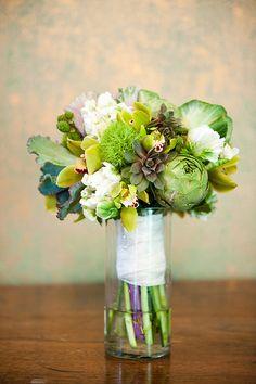 Green Succulent and Veggie Bouquet by Blue Bouquet, via Flickr