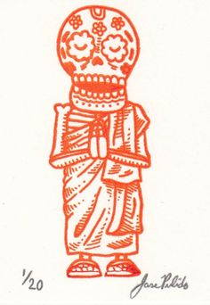 buddhist monk calavera