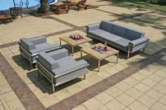Largo Lounge Outdoor Furniture Sets, Outdoor Decor, Lounges, Patio, Home Decor, Steel, Timber Wood, Decoration Home, Room Decor