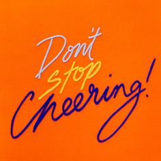 Don't Stop Cheering Embroidery  A3 giclee print by maricormaricar, $70.00