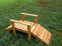 DIY Pallet Foot Bridge For Your Garden Or Small Stream