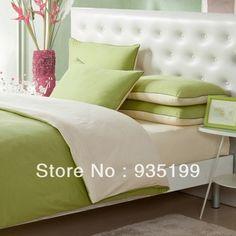 Pesto Green Sage Pea Grass Cotton Percale Sheets NEW Company Store